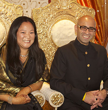 Deborah and Chetan Bhandari at Red Ribbon's Bollywood Gala