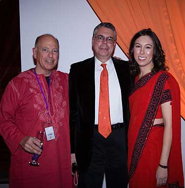 Philip Lilienthal, Dr. Jeffrey Laurence and Nicole Hazard at Red Ribbon's Bollywood Gala