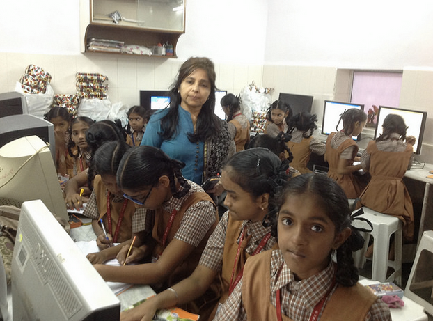 Computer learning for girls at CHI Prayas
